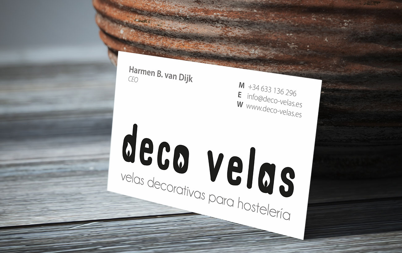 Deco Velas & Van Dijk – Visitekaartjes by Bottle Post Media