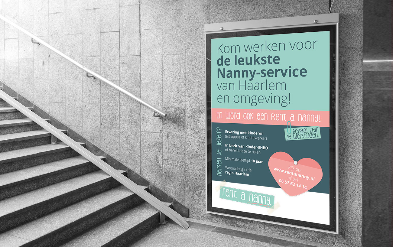 Rent a Nanny – Posters by Bottle Post Media