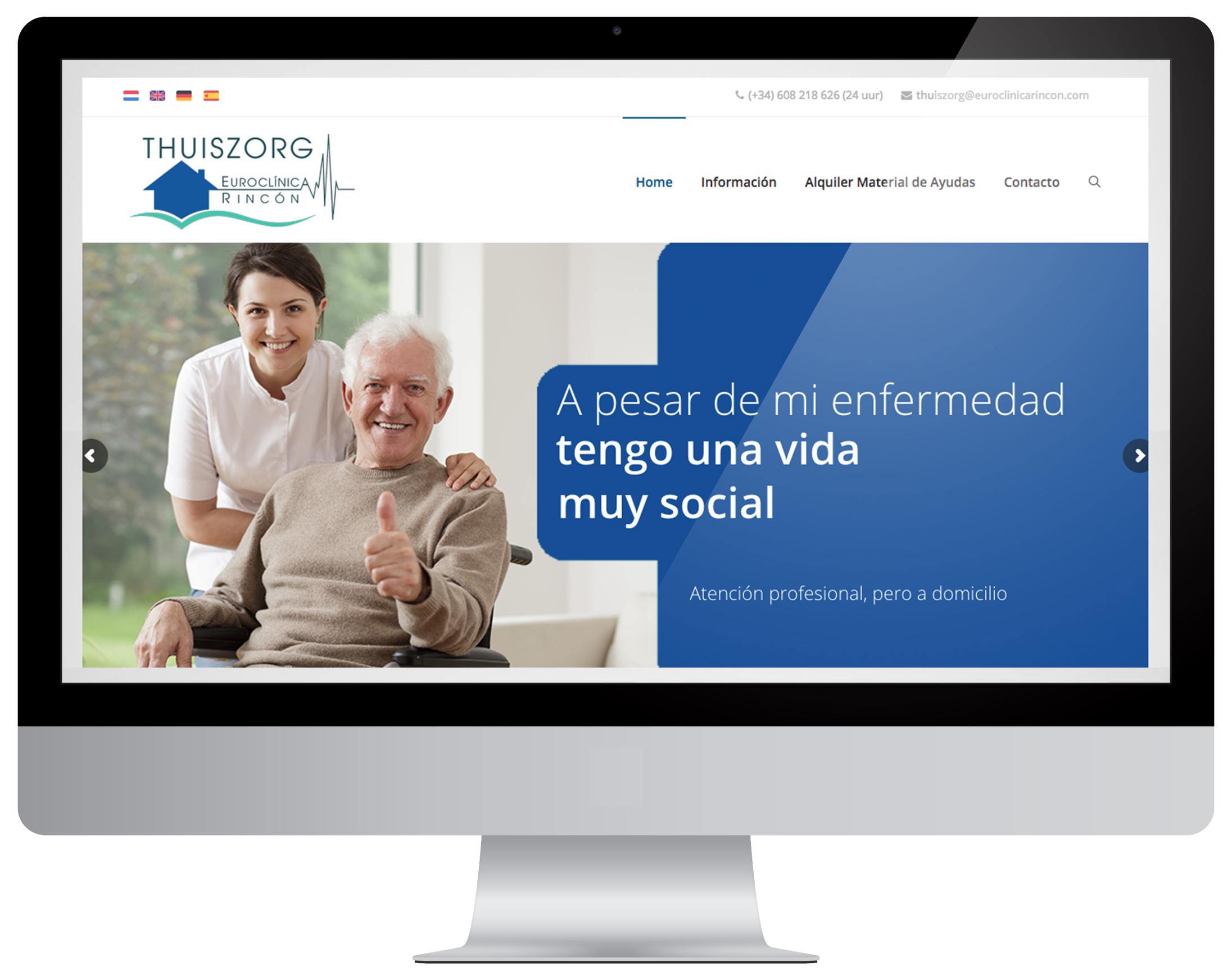 Thuiszorg Euroclínica Rincón website laten maken Costa Blanca