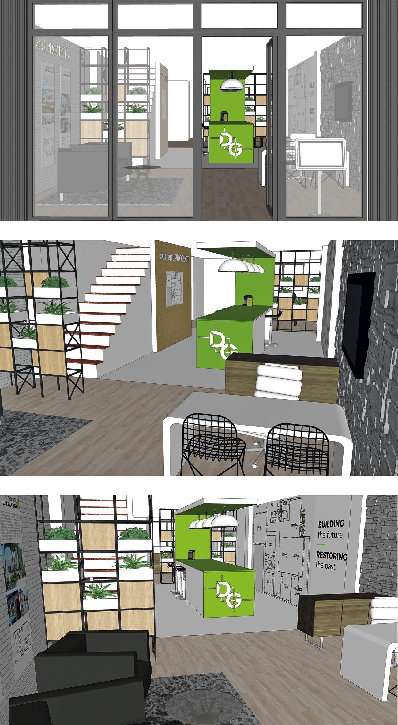 Daan Groen kantoor interieur ontwerp door Bottle Post Media Costa Blanca
