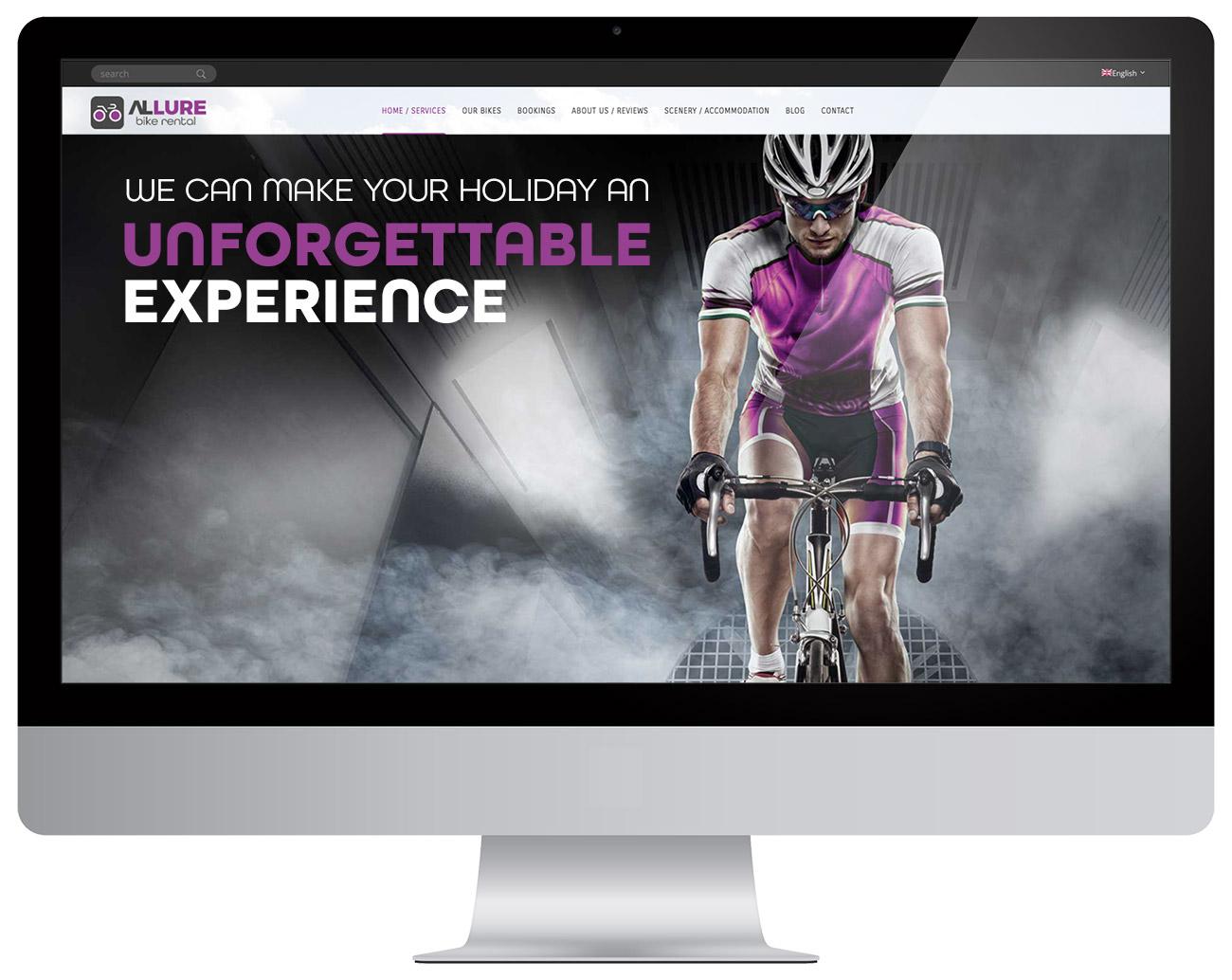 Allure Bike Rental website design design bedrijf costa blanca