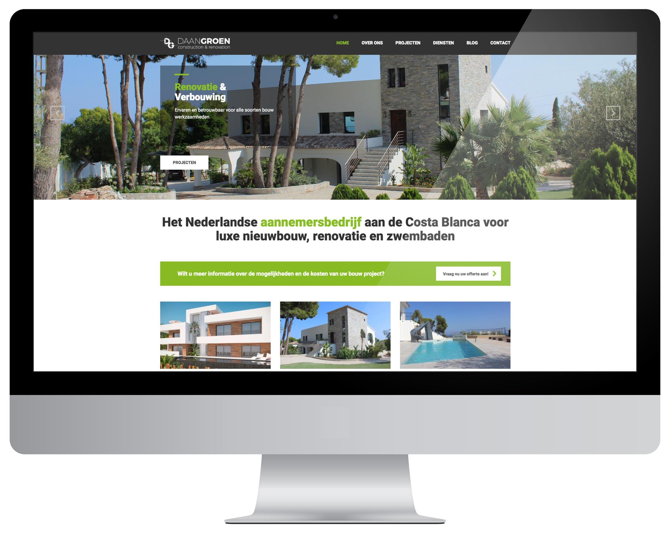 Website ontwerp Daan Groen door Bottle Post Media Costa Blanca