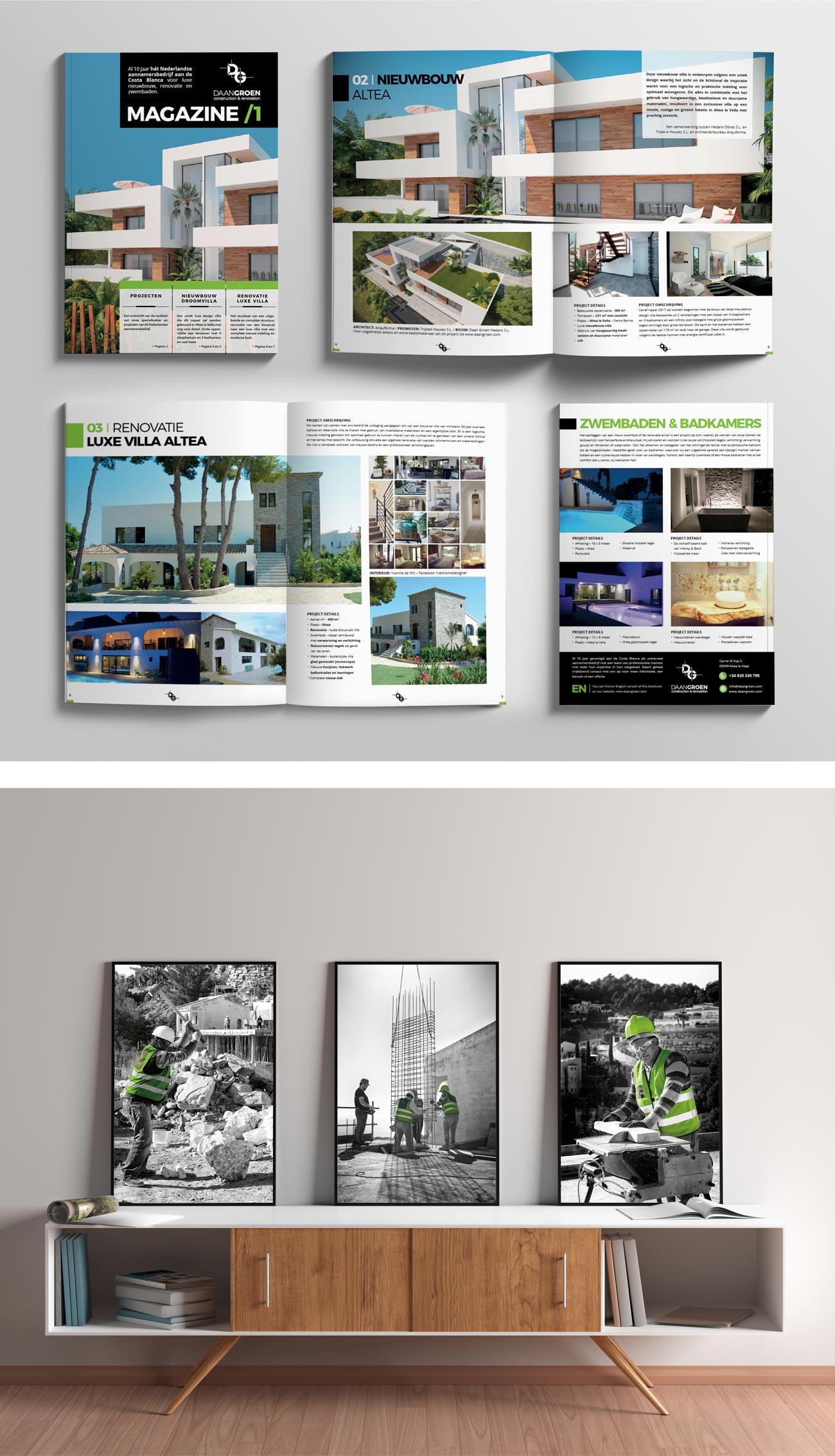 Fotografie en print media ontwerp Daan Groen door Bottle Post Media Costa Blanca