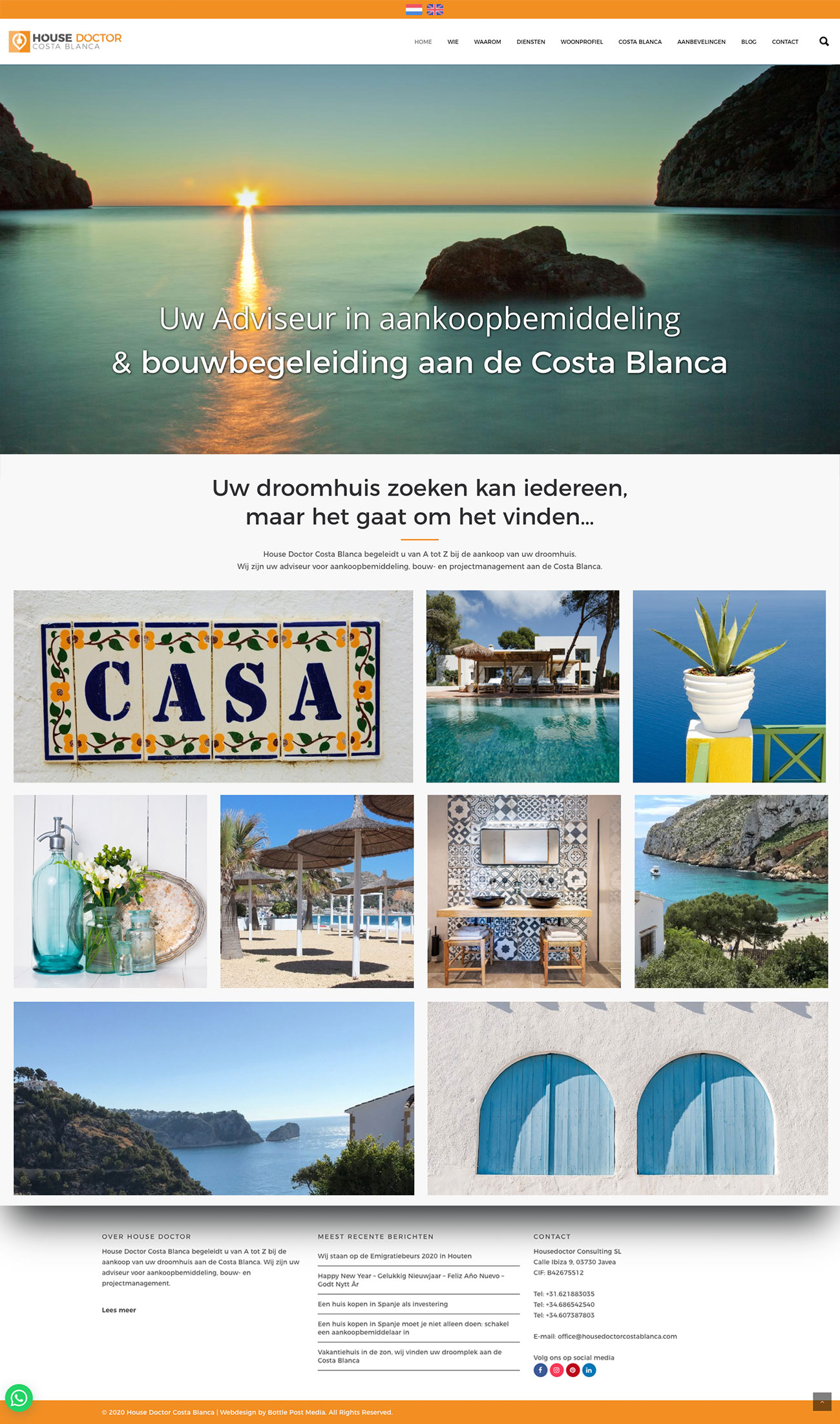 Website House Doctor Costa Blanca