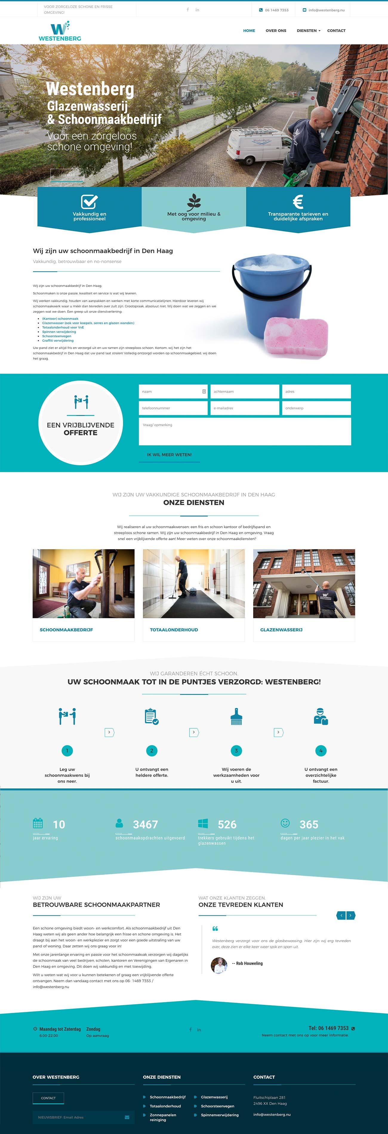 Website Westenberg grafische vormgeving Costa Blanca