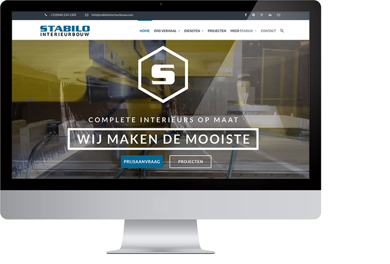 Stabilo interieurbouw webdesign website by bottle post for Interieur bouwer