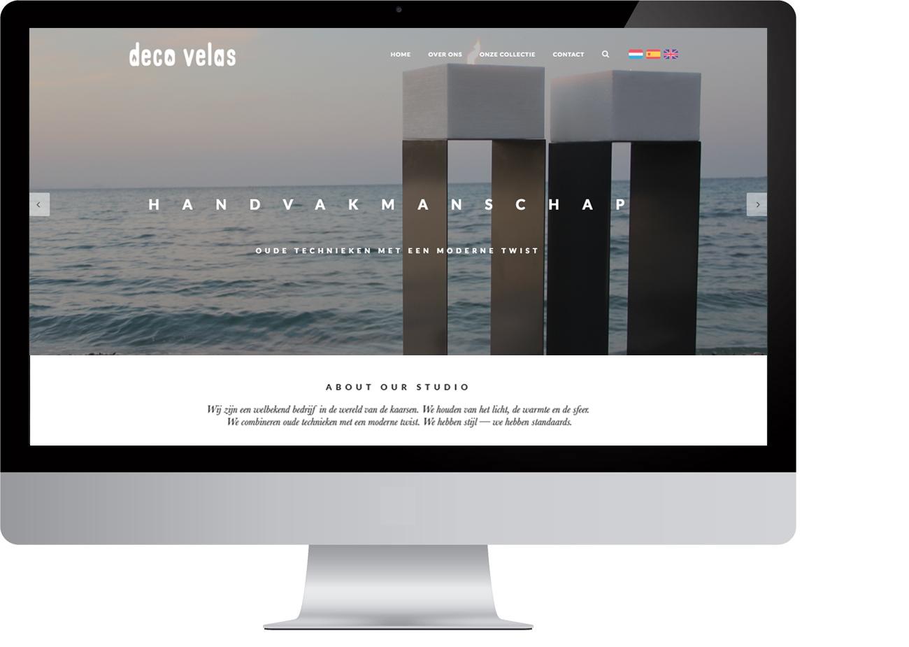 Deco velas branding webshop by bottle post media