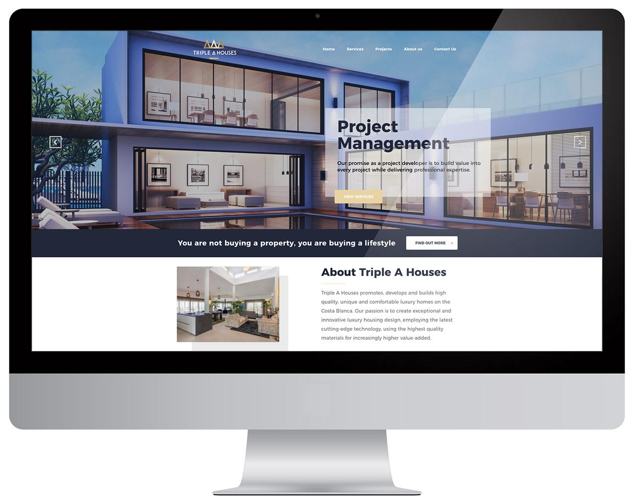 Website Triple A Houses Huisstijl Costa Blanca